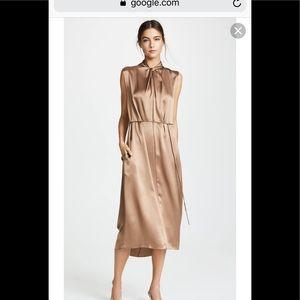 NWT Vince Multiwear Silk Knot Neck Midi Dress S
